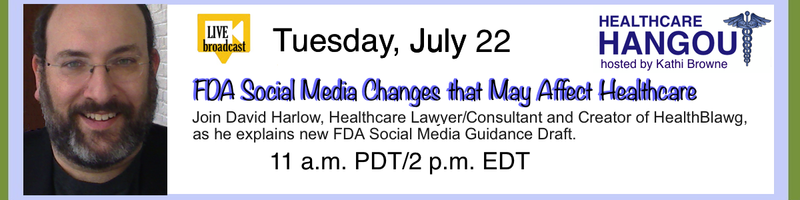 FDA Social Media Guidance – Hangout on Air